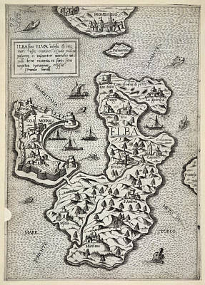 Cartography Photograph - The Isle Of Elba by British Library