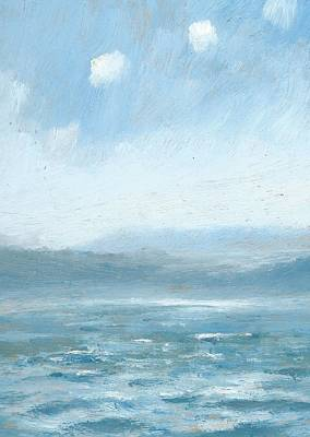 Painting - The Isle Of Wight From Portsmouth Part Eight by Alan Daysh