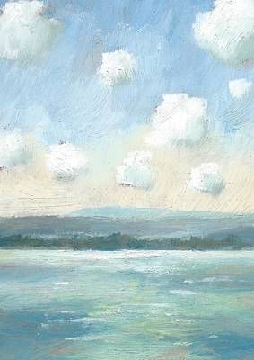 Painting - The Isle Of Wight From Portsmouth Part Nine by Alan Daysh