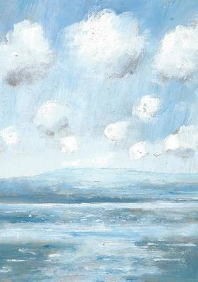 Painting - The Isle Of Wight From Portsmouth Part Seven by Alan Daysh