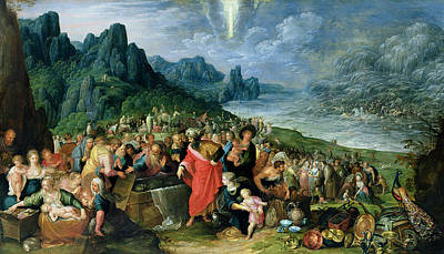 Intervention Photograph - The Israelites On The Bank Of The Red Sea, 1621 Oil On Canvas by Frans II the Younger Francken