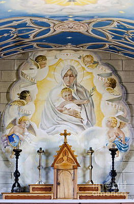Seraph Photograph - The Italian Chapel Mural Lamb Holm Orkney  by Tim Gainey