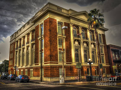 Old Brick Building Photograph - The Italian Club by Marvin Spates