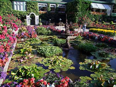 Photograph - The Italian Garden by George Cousins