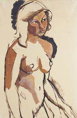 Erotica Painting - The Italian Girl by Roger de La Fresnaye