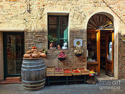 Photograph - The Italian Grocer by Karen Lewis