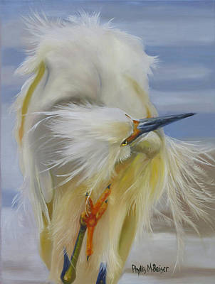 Waterfowl Painting - The Itch by Phyllis Beiser