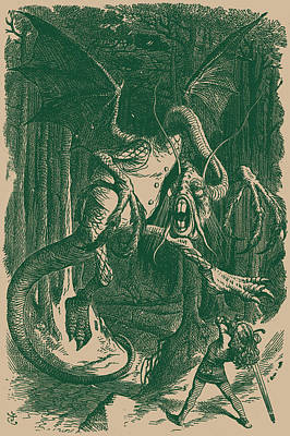 Jabberwocky Drawing - The Jabberwock by
