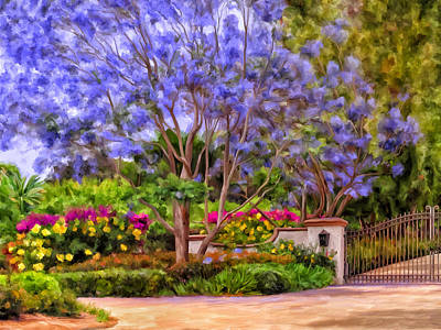 Painting - The Jacaranda by Michael Pickett