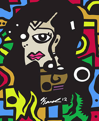 Popstract Digital Art - The Jackson by Kamoni Khem