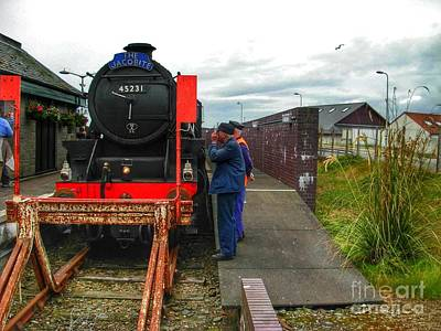 Photograph - The Jacobite At Mallaig Station 2 by Joan-Violet Stretch
