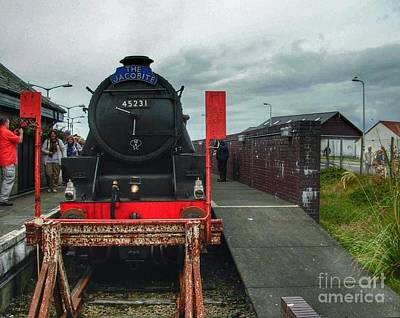 Photograph - The Jacobite At Mallaig Station by Joan-Violet Stretch