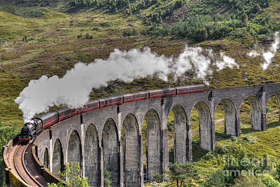 Prince Harry Photograph - The Jacobite Steam Train by Alba Photography
