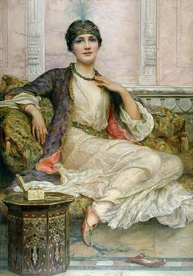 Boxes Painting - The Jade Necklace, 1908 by William Clark Wontner