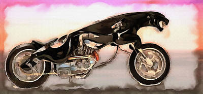 Manipulation Photograph - The Jaguar Cycle by Mario Carini