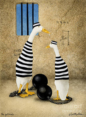 Ducks Painting - The Jailbirds... by Will Bullas
