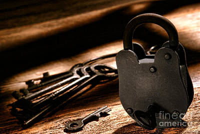 Wood Desk Photograph - The Jailer Lock by Olivier Le Queinec
