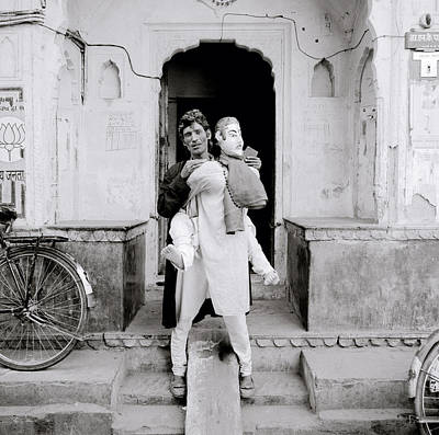 Humor Photograph - The Jaipur Street Entertainer by Shaun Higson