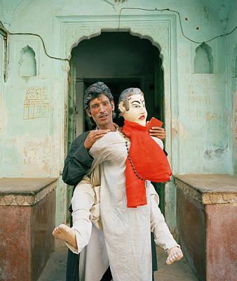 Absurdity Photograph - The Jaipur Street Performer  by Shaun Higson