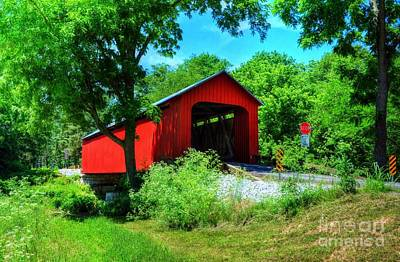 Indiana Landscapes Photograph - The James Covered Bridge by Mel Steinhauer