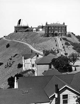 Lick Observatory Photograph - The James Lick Observatory by Underwood Archives