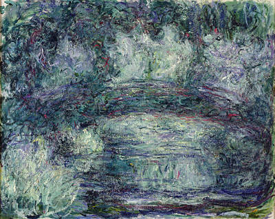 Monet Photograph - The Japanese Bridge, 1918-19 Oil On Canvas See Detail 382336 by Claude Monet