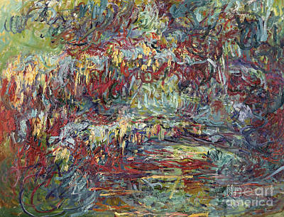 Weeping Willow Painting - The Japanese Bridge At Giverny by Claude Monet