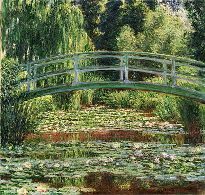 The Japanese Footbridge And The Water Lily Pool Giverny Art Print by Claude Monet