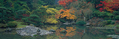 The Japanese Garden Seattle Wa Usa Art Print by Panoramic Images