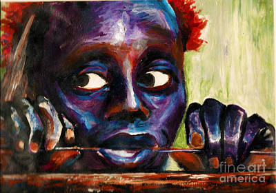 Painting - The Jarawa Tribe by Donna Chaasadah