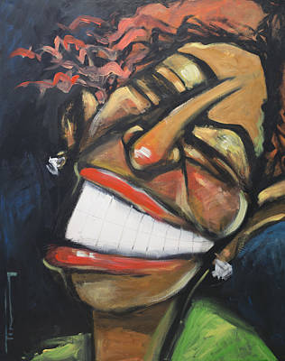 Eyes Painting - The Jazz Singer by Tim Nyberg