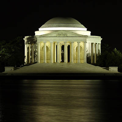 Jefferson Memorial Wall Art - Photograph - The Jefferson Memorial by Kim Hojnacki