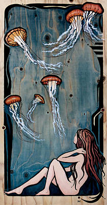 Painting - The Jellyfish by Janet Guenther