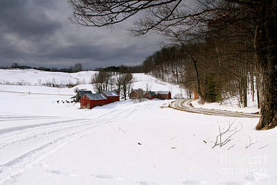 Photograph - The Jenne Farm In Winter by Butch Lombardi
