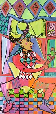 The Jester Art Print by Janet Ashworth