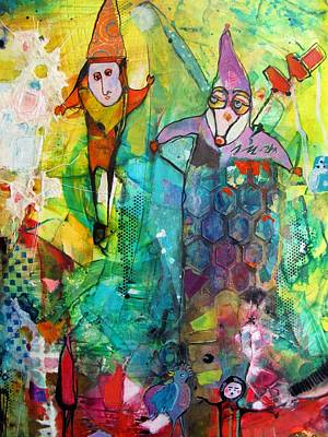 Jester Mixed Media - The Jesters by Chris Cozen