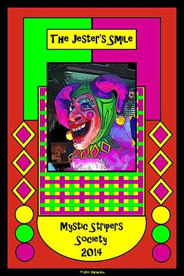 Striper Digital Art - The Jester's Smile Poster by Marian Bell