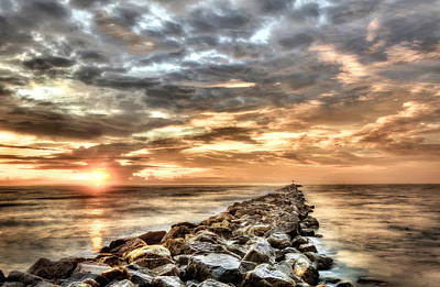 Photograph - The Jetties At Ponce Inlet by Brent Craft