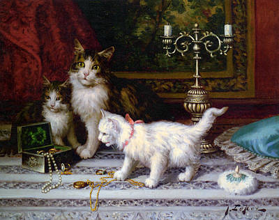 House Pet Digital Art - The Jewelry Box by Jules Leroy