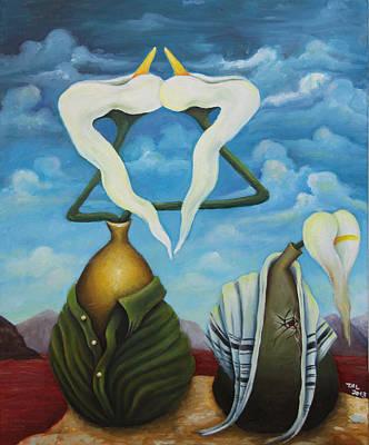 Magen David Painting - The Jewish Resistance by Tal Alperovitch