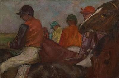 Degas Painting - The Jockeys, C.1882 by Edgar Degas