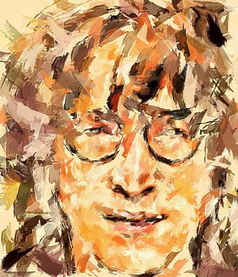 Beatles Life Music Digital Art - The John by Yury Malkov