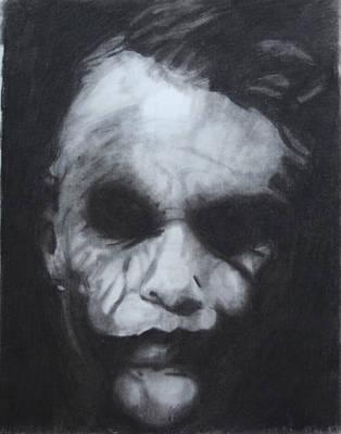 Drawing - The Joker by Aaron Balderas