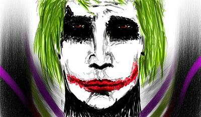 Heath Ledger Mixed Media - The Joker by Arpit Handa