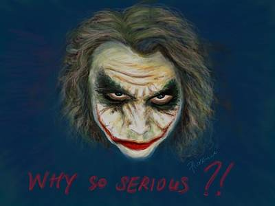 Heath Ledger Digital Art - The Joker Heath Ledger - Why So Serious by Florence Lee