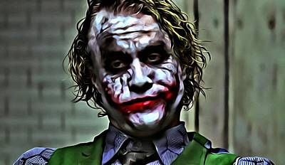 Heath Ledger Wall Art - Painting - The Joker by Florian Rodarte