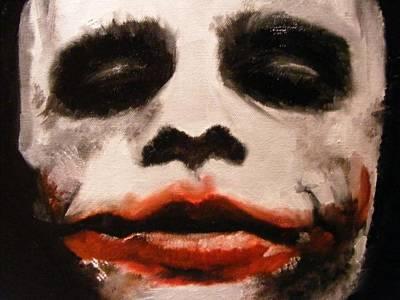 Heath Ledger Painting - The Joker by Lynda Ryan