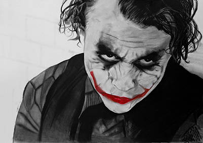 Heath Ledger Wall Art - Drawing - The Joker by Robert Bateman