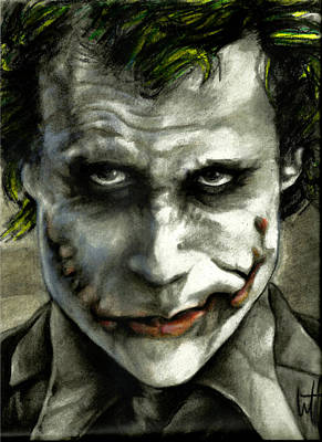 The Dark Knight Drawing - The Joker by William Western