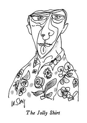Grotesque Drawing - The Jolly Shirt by William Steig
